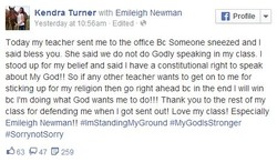 Kendra Turner with Emilelgh Newman 