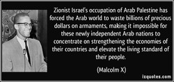 Zionist Israel's occupation of Arab Palestine has 