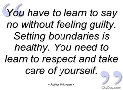 you have to learn to say 