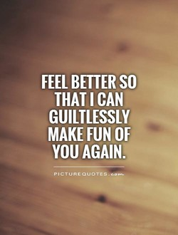 FEEL BETTER SO 
