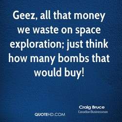 Geez, all that money 