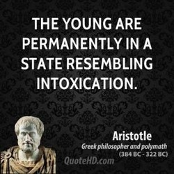 THE YOUNG ARE 