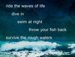 ride the waves of life 