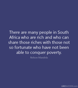 There are many people in South 