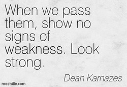 When we pass 