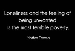 Loneliness and the feeling of 