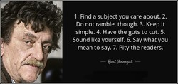 1. Find a subject you care about. 2.