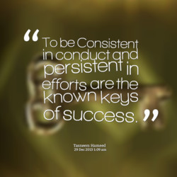 To be Consistent