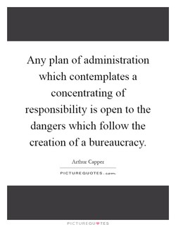 Any plan of administration 