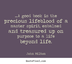 m A good book is the