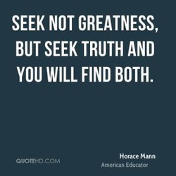 SEEK NOT GREATNESS, 
