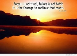 Success is no} final, failure is no} falal: 