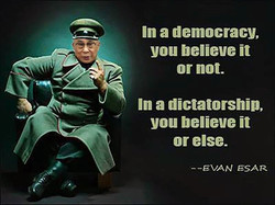 In a democracy, 