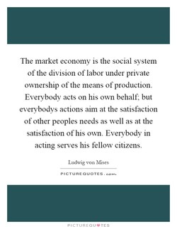 The market economy is the social system 