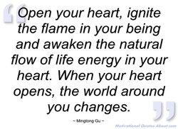 Open your heart, ignite 