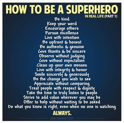 HOW TO BE A SUPERHERO 