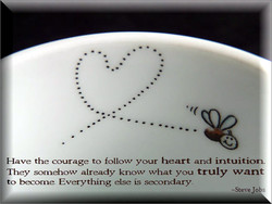 Have the courage to follow your heart and intuiti 