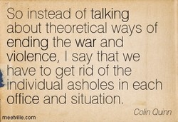 So instead of talking 