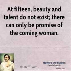 At fifteen, beauty and
