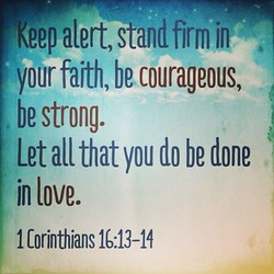 Keep alert, stand firm jn 