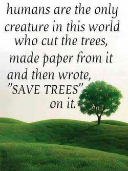 humans are the only 