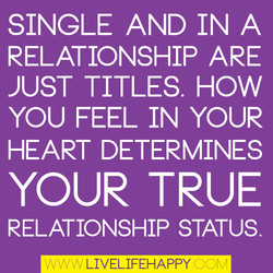 SINGLE AND IN A 