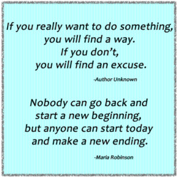 If you really want to do something, 