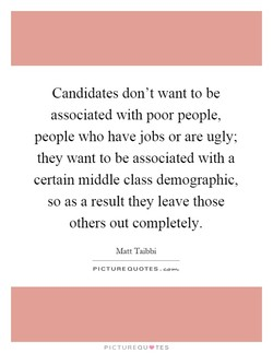 Candidates don't want to be