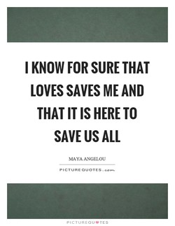 I KNOW FOR SURE THAT 