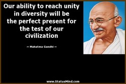 Our ability to reach unity 