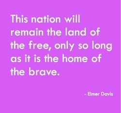 This nation will 