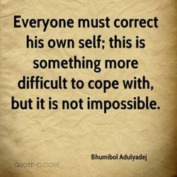 Everyone must correct 