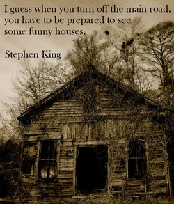 I guess when you turn off the mam road, 