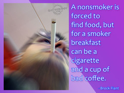 A nonsmoker is 