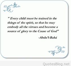 Every child must be trained in the