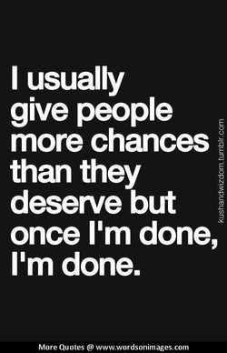 I usually