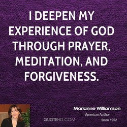 I DEEPEN MY