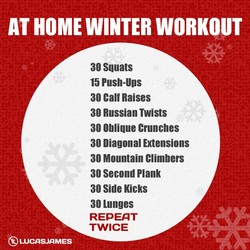 AT HOME WINTER WORKOUT