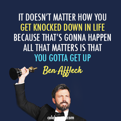 IT DOESN'T MATTER HOW YOU 