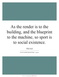 As the render is to the 