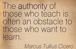 The authority of 