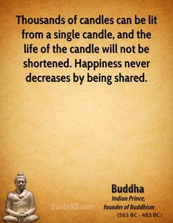 Thousands of candles can be lit 