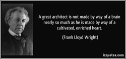 A great architect is not made by way of a brain 