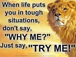When life puts