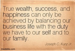 True wealth, success, and 
