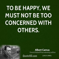 TO BE HAPPY, WE 