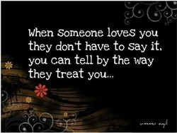 When someone loves you 