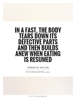 IN FAST THE BODY 