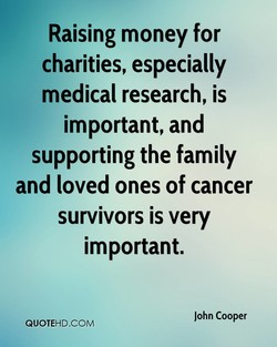 Raising money for 