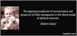 The opposing tendencies of concentration and 